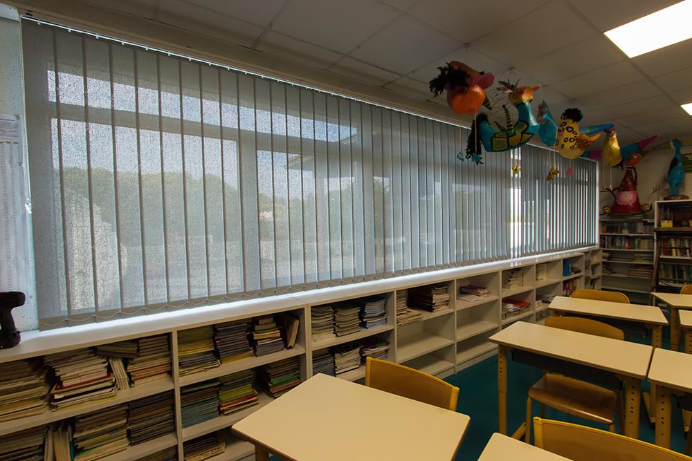Installation de nouveaux stores dans une école maternelle