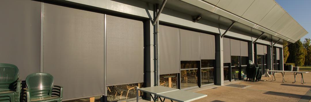 Changement des stores extérieurs à Alpespace avec automatisme