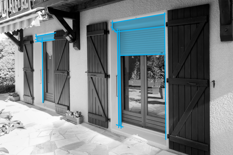 Changement des volets roulants d'une maison en Savoie. Installation d'un automatisme sur volet